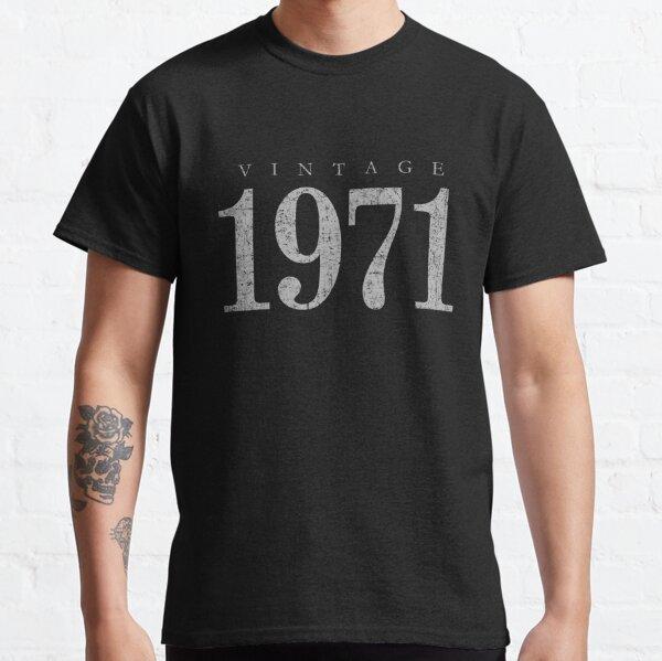 Vintage 1971 (Antik Grau) 50. Geburtstag  Classic T-Shirt