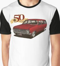 HR Holden Station Wagon - 50th Anniversary - Red Graphic T-Shirt