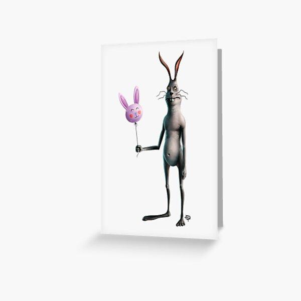 Rabbit & Balloon Greeting Card