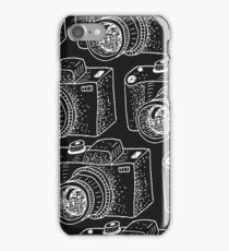 Hand drawn white cameras iPhone Case/Skin