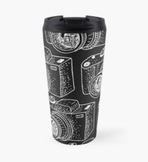 Hand drawn white cameras Travel Mug