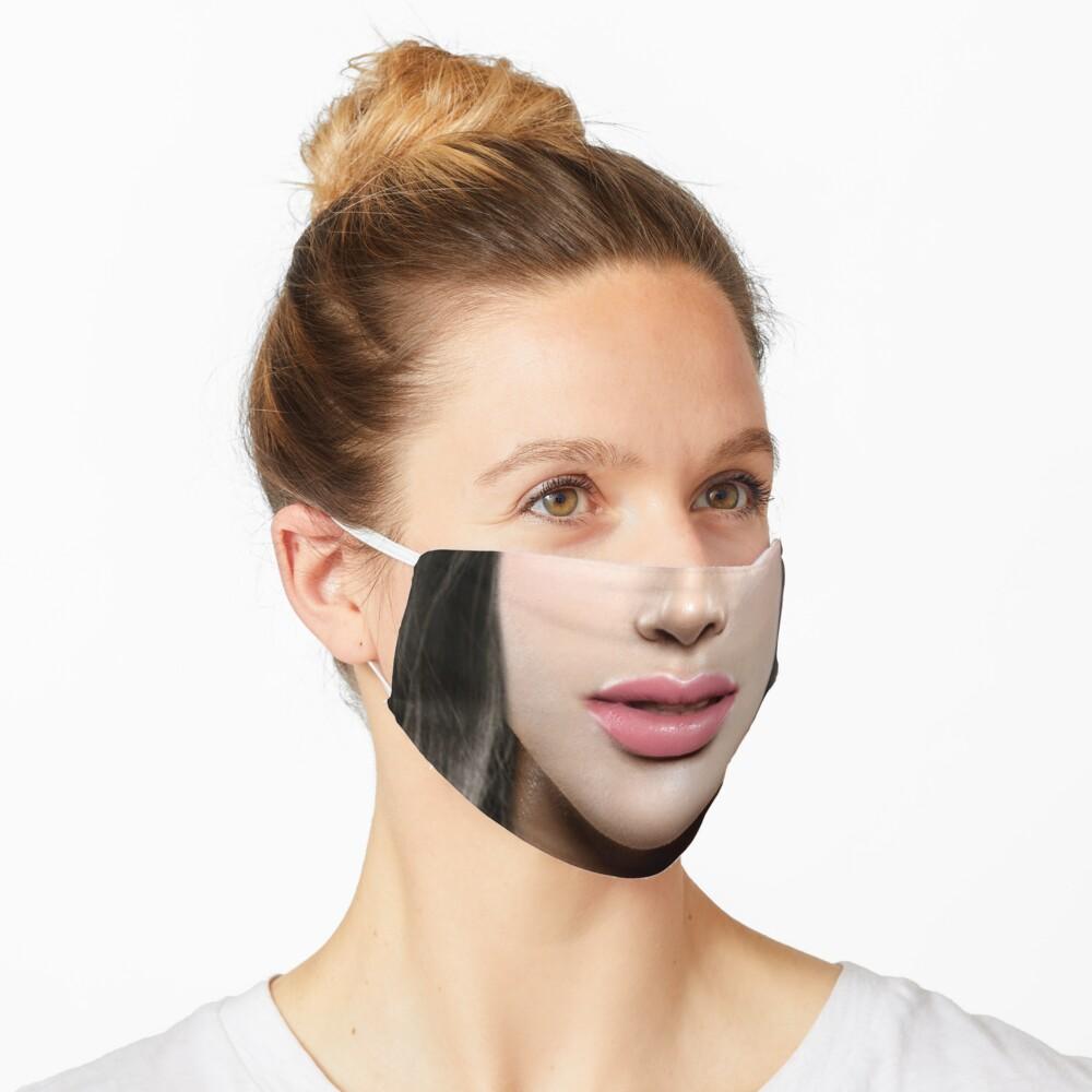 Brunette pink lips Face Mask Mask