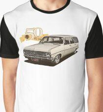 HR Holden Station Wagon - 50th Anniversary - White Graphic T-Shirt