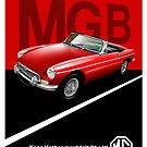 MG B Classic Car Advert by RJWautographics
