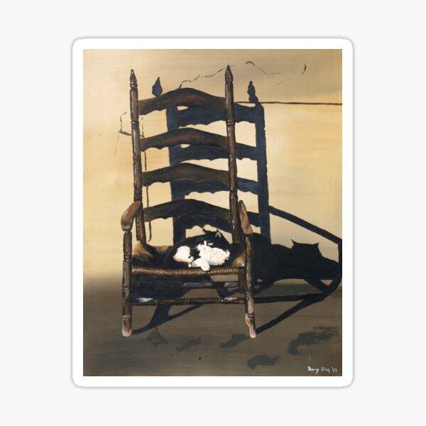 Cat In Wicker Chair Sticker