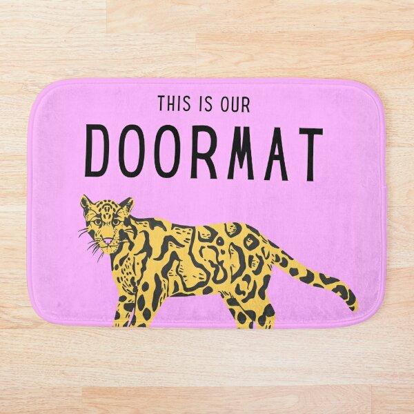 This is our doormat designer doormat with panter Bath Mat