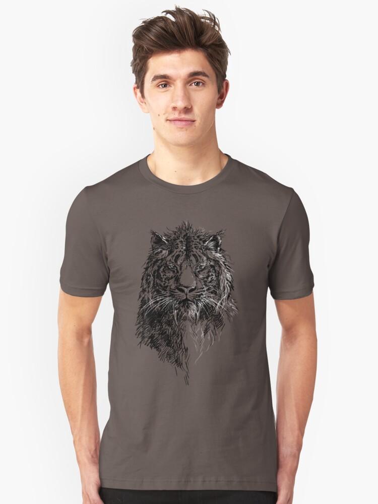 Sabretooth Cat v1 Unisex T-Shirt Front