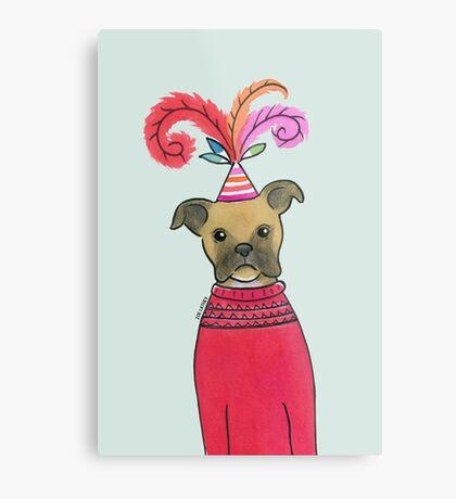 Celebration Boxer Dog Metal Print