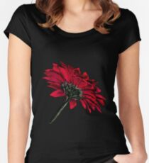 Red Gerbera Women's Fitted Scoop T-Shirt