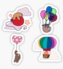 Four Balloon Sloths Sticker