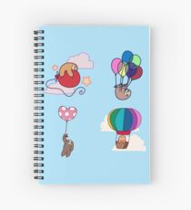 Four Balloon Sloths Spiral Notebook