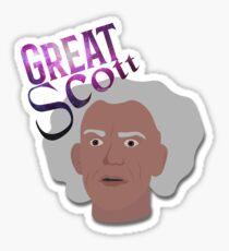 Great Scott! Sticker