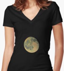 Mr Moon  Women's Fitted V-Neck T-Shirt