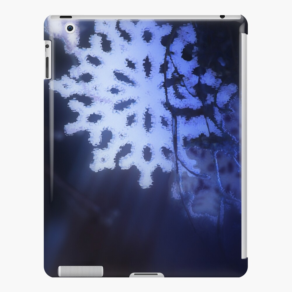 snowflakes in blue 3 iPad Case & Skin