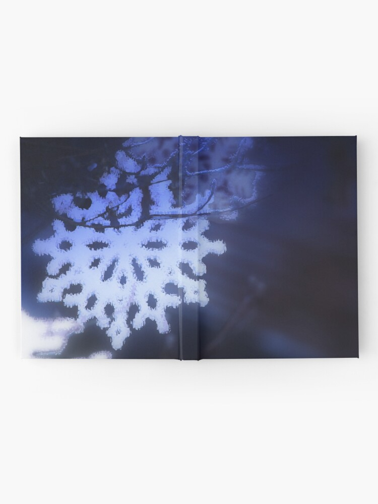 Alternate view of snowflakes in blue 3 Hardcover Journal