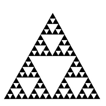 Sierpinski Triangle Fractal Math Art by SnappyBrick