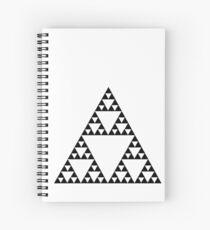 Sierpinski Triangle Fractal Math Art Spiral Notebook