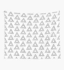 Sierpinski Triangle Fractal Math Art Wall Tapestry