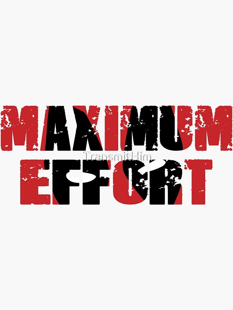 Deadpool Maximum Effort decal Deadpool logo Deadpool sticker