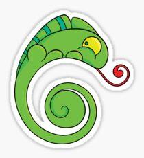 Cute chameleon Sticker