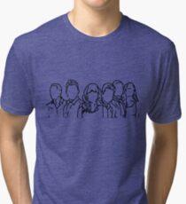 New Girl Outline Tri-blend T-Shirt