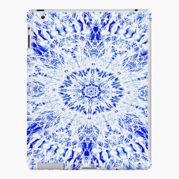 White Lace Round Mandala  iPad Snap Case