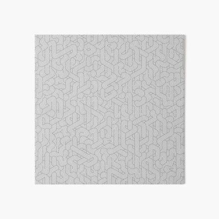 Abstract White Hexagon Bezier Truchet Tiles #3 Art Board Print