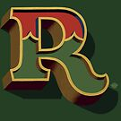 December Green - Letter R by Carter & Rickard