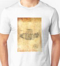 Patent Image - Airplane - Ancient Canvas Unisex T-Shirt