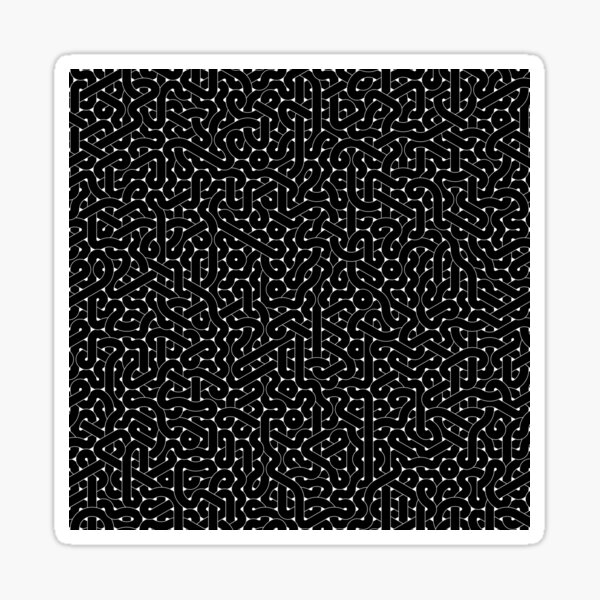 Abstract Black Hexagon Truchet Tiles #1 Sticker