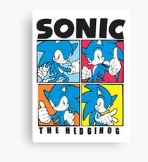 Sonic The Hedgehog 4 in 1 Canvas Print