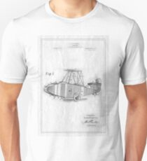 Patent Image - Airplane - White Unisex T-Shirt