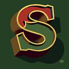 December Green - Letter S by Carter & Rickard