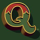 December Green - Letter Q by Carter & Rickard