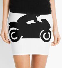 Motorrad Frau Mädchen Minirock