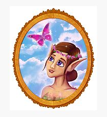 The elf and the butterfly~  Photographic Print