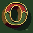 December Green - Letter O by Carter & Rickard