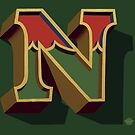 December Green - Letter N by Carter & Rickard
