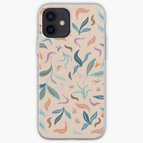 Warm Tone Leaves iPhone Soft Case