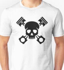 Crossed pistons skull Unisex T-Shirt