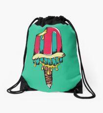 ice cream monster Drawstring Bag