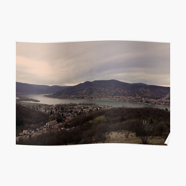 View of Visegrad and Nagymaros with the Danube, Hungary Poster