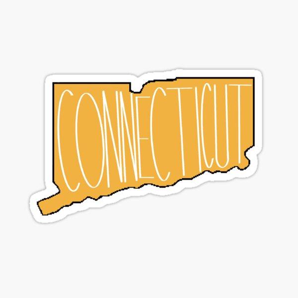 Connecticut in Orange Sticker