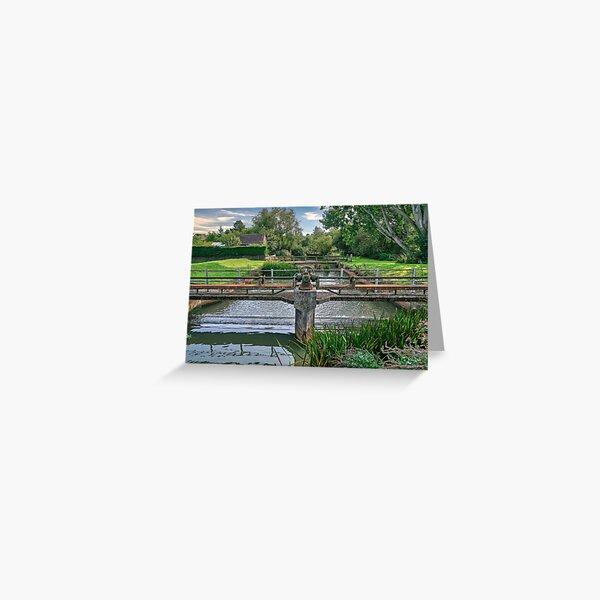 Alverstone Weir Greeting Card