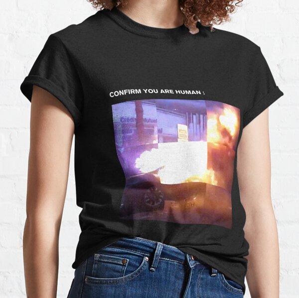 CONFIRM YOU ARE HUMAN, MIXED MEDIA T-shirt classique