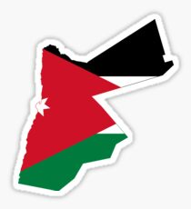 Flag Map of Jordan  Sticker
