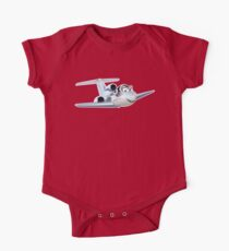 Cartoon Civil utility airplane One Piece - Short Sleeve