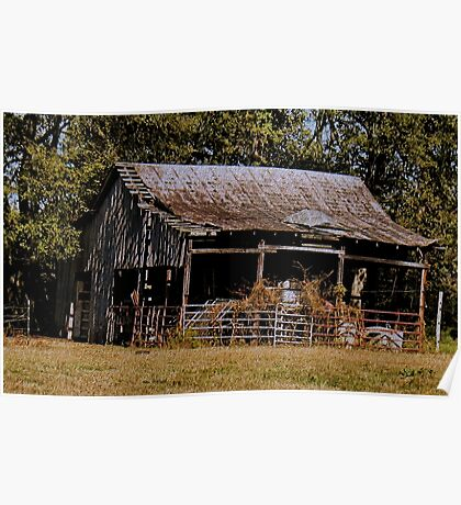 """""""Old Timer's Barn (colored version)""""... prints and products Poster"""
