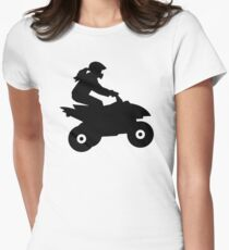 Quad woman girl Women's Fitted T-Shirt