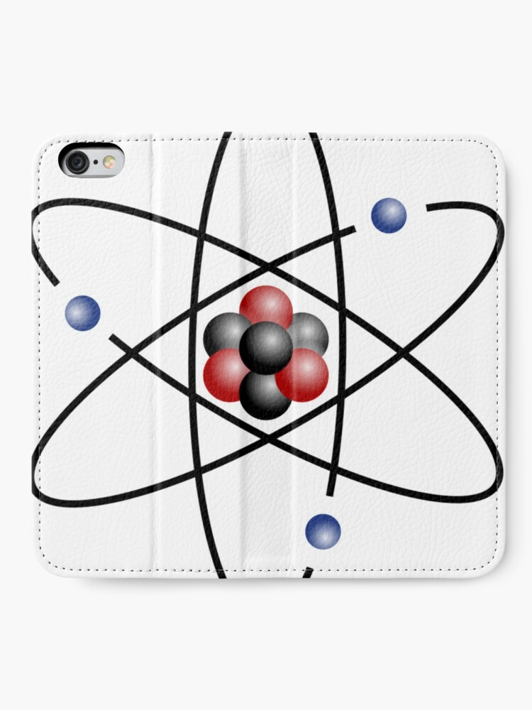 Alternate view of Stylized lithium-7 atom: 3 protons, 4 neutrons, and 3 electrons (total electrons are ~1⁄4300th of the mass of the nucleus). It has a mass of 7.016 Da. iPhone Wallet